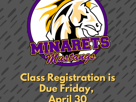 It's Time for Class Registration!