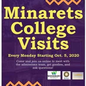 Monday College Visits Comes to Minarets