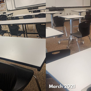 New Desks for the Classrooms