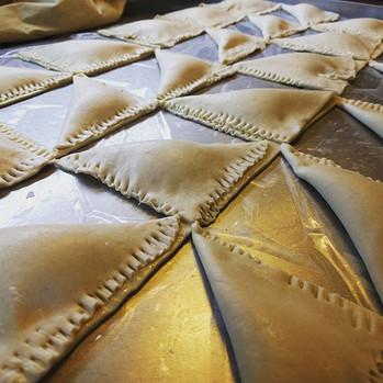 Burekas in the making #burekas #cheesefilled  #ricotta #feta