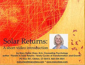 Solar Returns sampler video