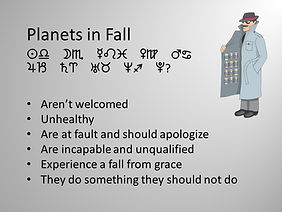 Electional Astrology and planets in fall