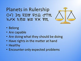 Rulership and Electional Astrology