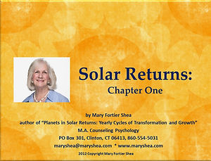 Chapter One Solar Returns