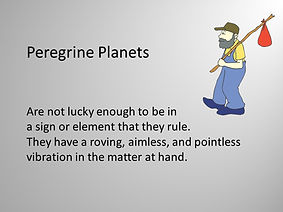 peregrine planets in Electional Astrology
