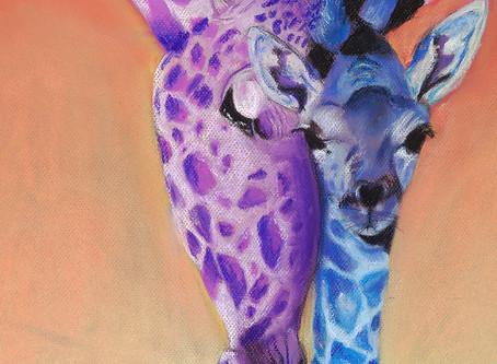 Mom & Baby Giraffe