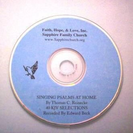 Singing Psalms At Home - CD