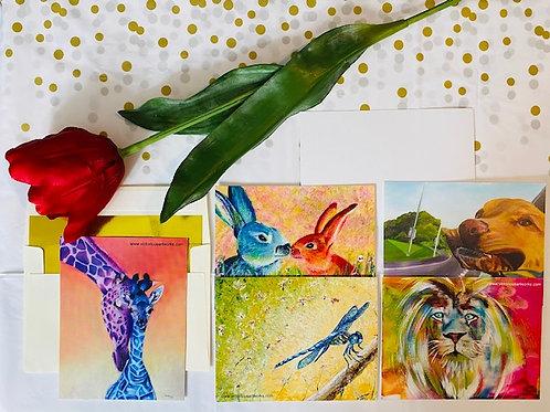4x6 Postcard Greeting Cards - Animals