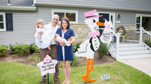 Our First Family Photo Shoot ~ The Stork Stop of Northern Virginia ~ Stork Lawn Sign Rentals