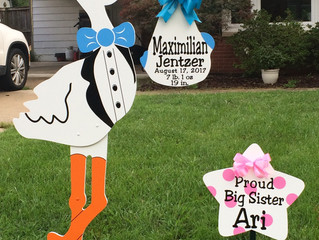 The Stork Stop of Northern Virginia ~ Annandale, VA ~ Stork Birth Announcement  ~ Welcome baby Maxim