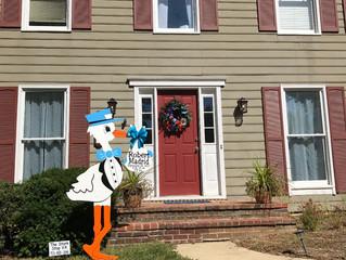 The Stork Stop of Northern Virginia ~ Alexandria, VA ~ Stork Lawn Sign Rentals