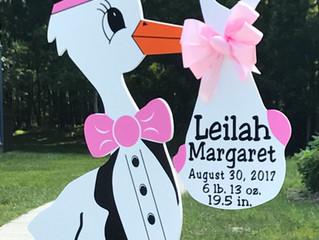 Ft. Belvoir ~ Little Sis ~ Stork Baby Sign ~ The Stork Stop of Northern Virginia