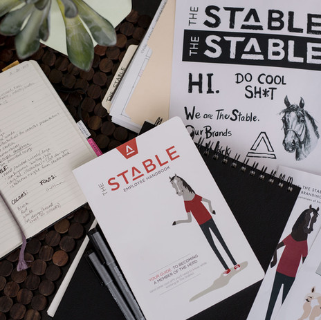 Handbook and custom illustrations for The Stable.
