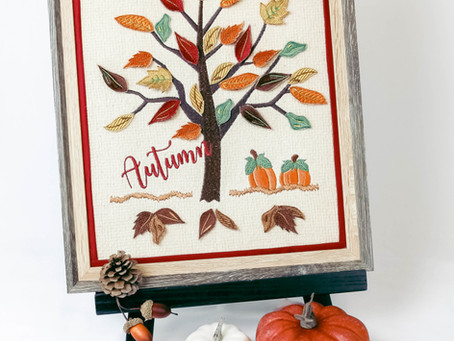 3D Autumn Tree
