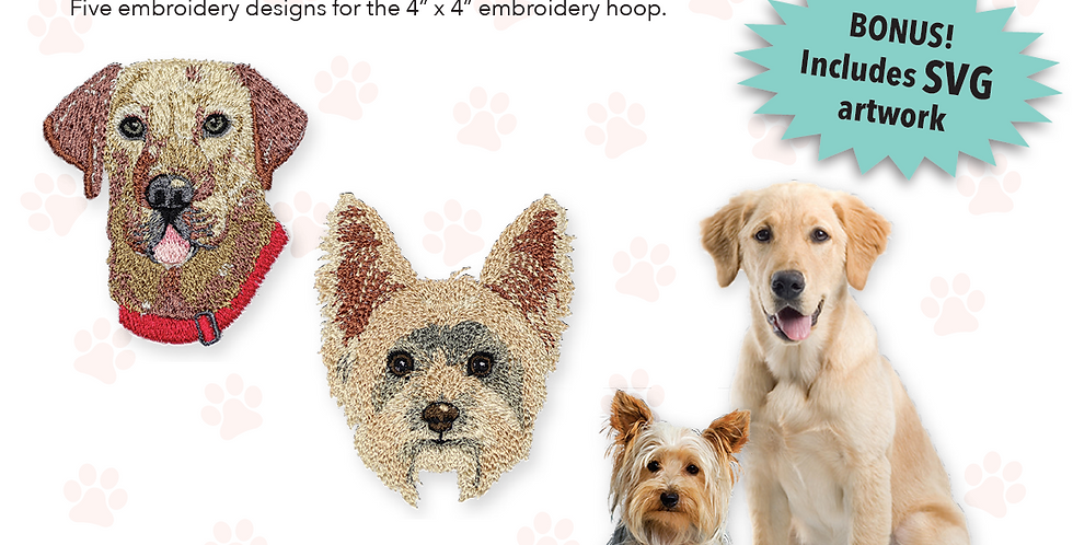 Puppy Play Embroidery CD with SVG Files