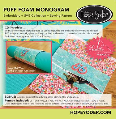 Puff Foam Monograms & Yoga Mat