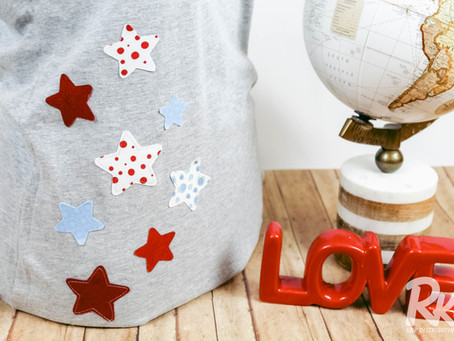 Upcycled Patriotic T-Shirt
