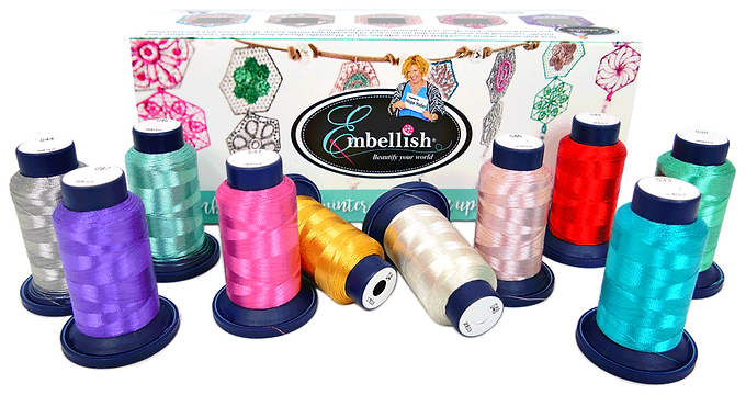 Embellish Metallic Thread with Free Hexi Lace Designs
