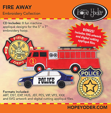 Fire Away Embroidery CD with SVG Files