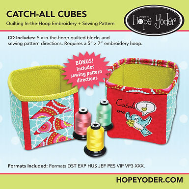 Catch All Cubes Embroidery CD