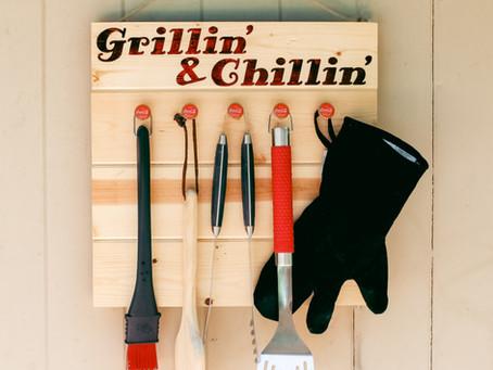 Grillin' and Chillin' Outside Decor