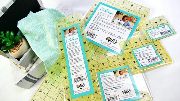 5 Quilting Ruler Pack with Bonus Quilt Patterns!