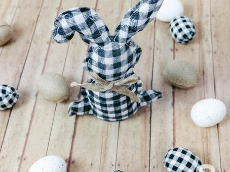Buffalo Plaid Burlap Bunny