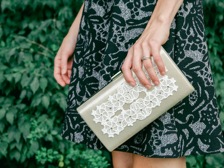 Sparkly Lace Clutch