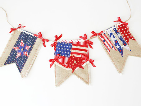 4th of July Patriot Pennant