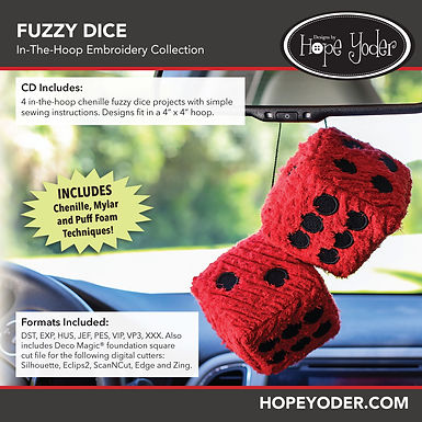 Fuzzy Dice Embroidery CD