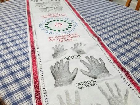 Loving Hands Table Runner