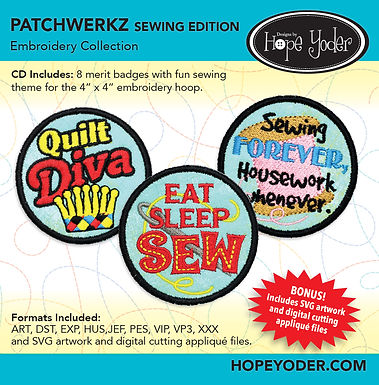 Patchwerk Special Edition Embroidery CD with SVG Files