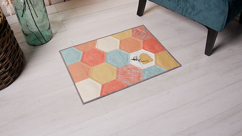 Bee Happy Floor Mat.jpg