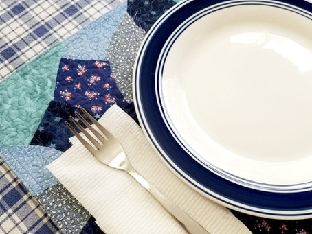 Scrappy Placemat with Clarrisa