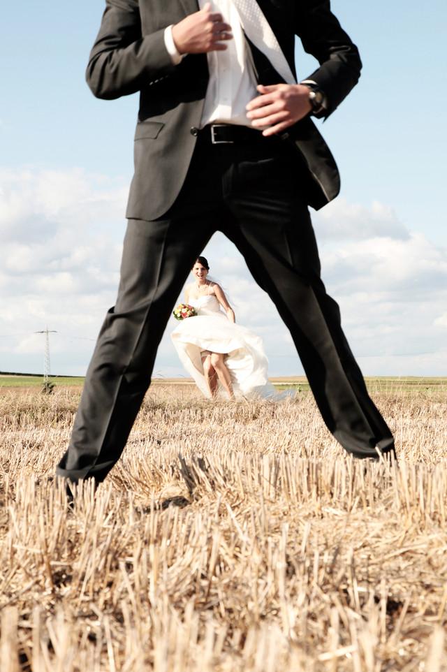 Brautpaar in aktion