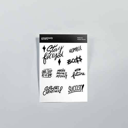 Motivate Sticker Set: Stay focused