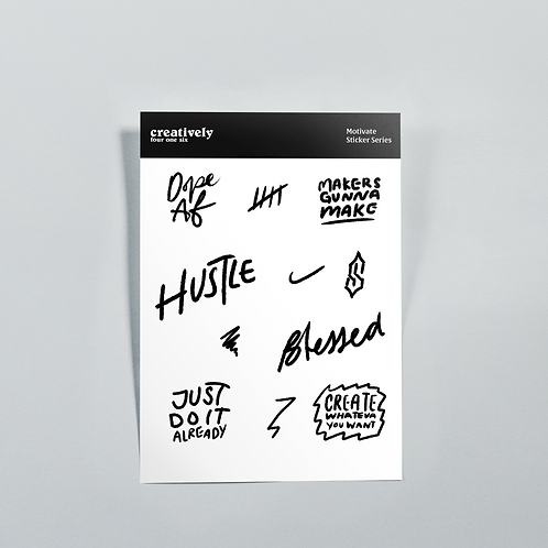 Motivate Sticker Set: Hustle
