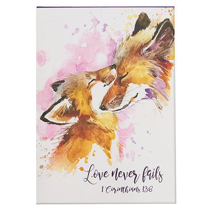 Love Never Fails - 1 Corinthians 13:8 Pet Notepad Pack Of 3