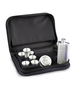 8 Piece Pewter Set in Zipped Case