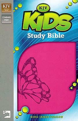 KJV Kids Study Bible, Leather-Look, Fluttering Fuchsia