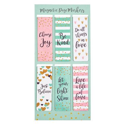 Sparkle Magnetic Love Bookmarks