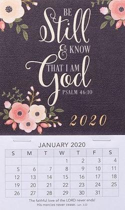 Be Still Mini Magnetic Calendar 2020