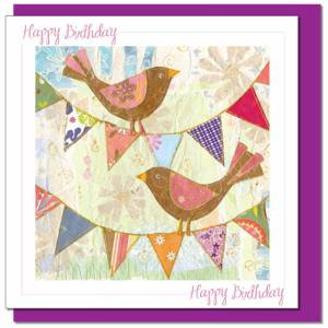 Birthday Birds (with verse) Women & Girls