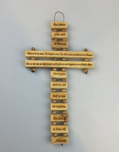 Olivewood Lord's Prayer Wall Hanging Cross