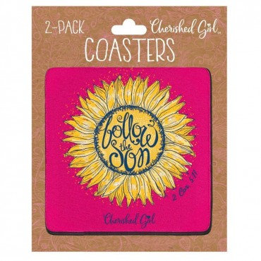 Follow the Son Cherished Girl Drink Coasters (2-pack)