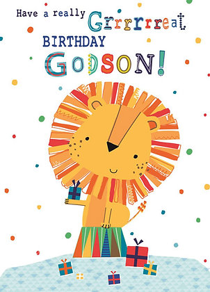 Godson's birthday card