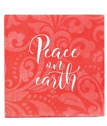 Peace on Earth Christmas Paper Napkins