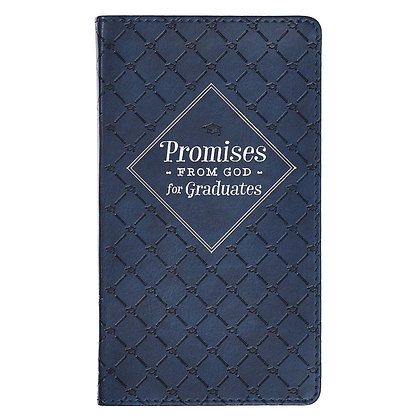 Promises from God's Word for Graduates Navy Faux Leather Promise Book
