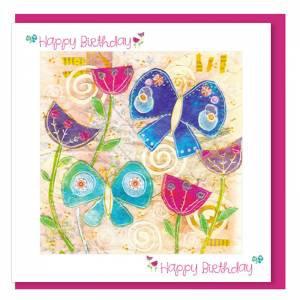 Birthday Butteflies (with verse) Women & Girls