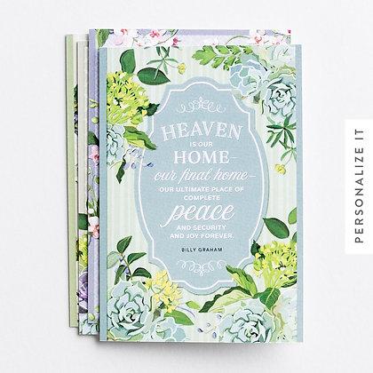 Sympathy - Heaven - 12 Boxed Cards, KJV Billy Graham